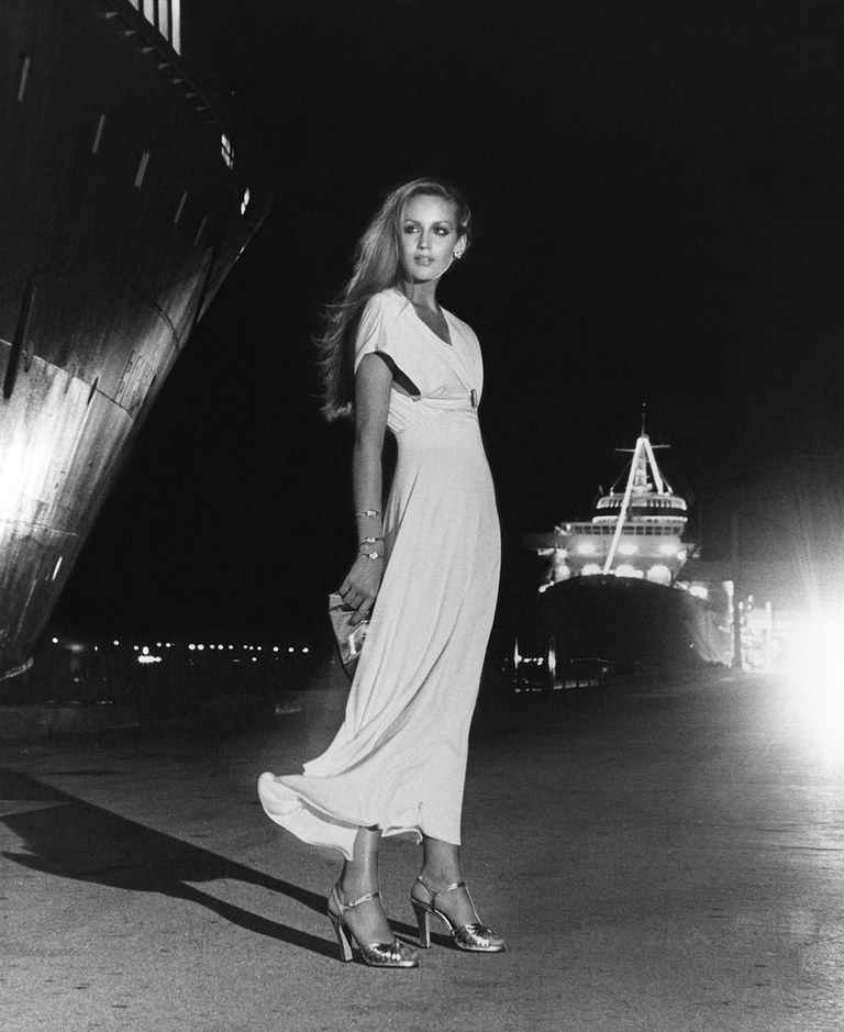 Jerry Hall in the 1970's. Image courtesy of Vanity Fair Magazine.