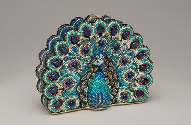 Judith Leiber Peacock; image via Vogue Magazine.