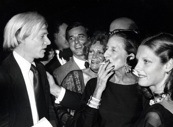 Andy Warhol and Diana Vreeland in 1977. Image: WiredImage.