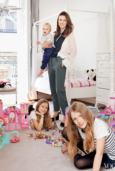 Waight Keller with her children (about 4-5 years ago). Image: Vogue.