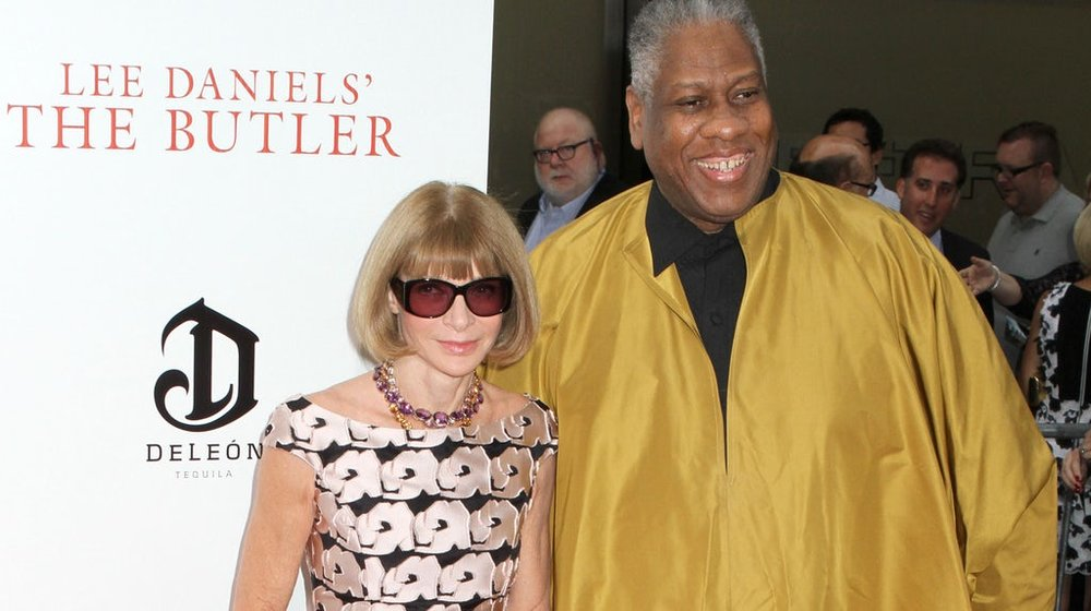 With Anna Wintour; image via Pinterest.