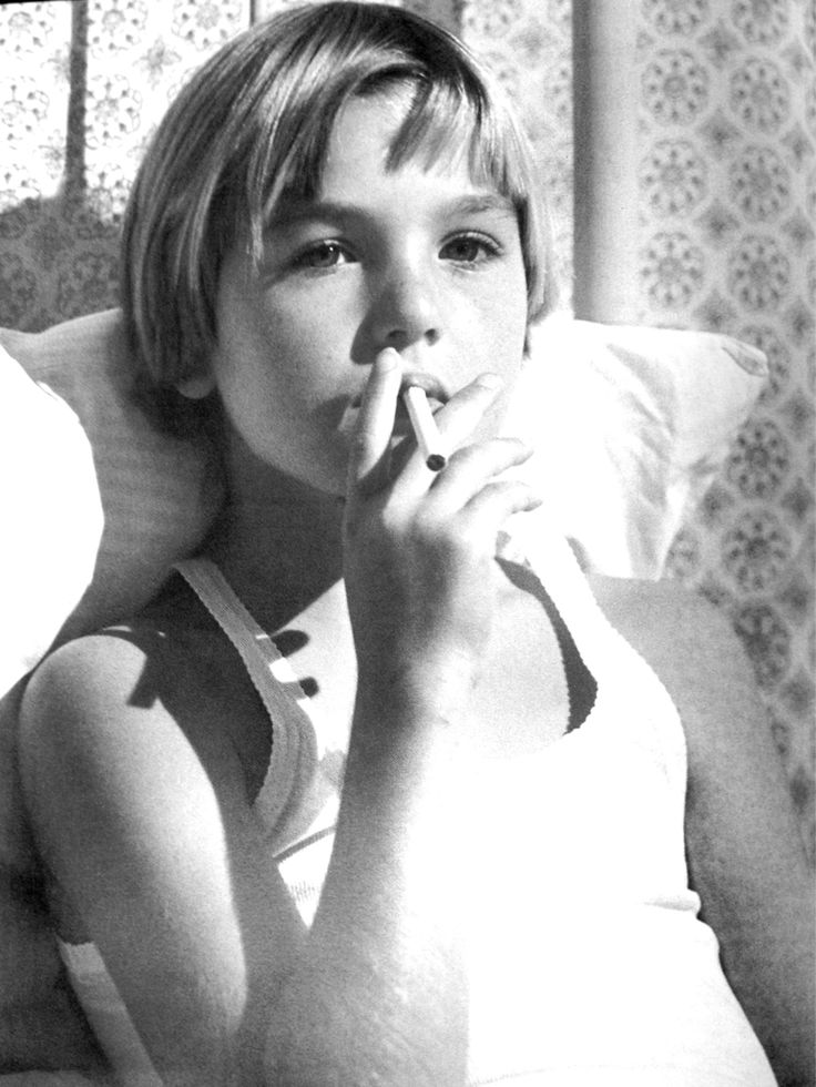 "Tatum O'Neil as Addie Pray in ""Paper Moon""; image via Pinterest."