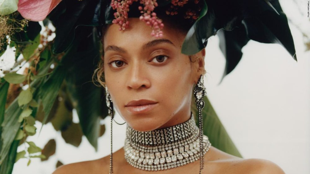 Tyler MItchell image of Beyonce for Vogue; image via Vogue.