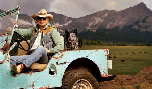 Ralph Lauren on his Double RL Ranch in Telluride; image via: Vanity Fair