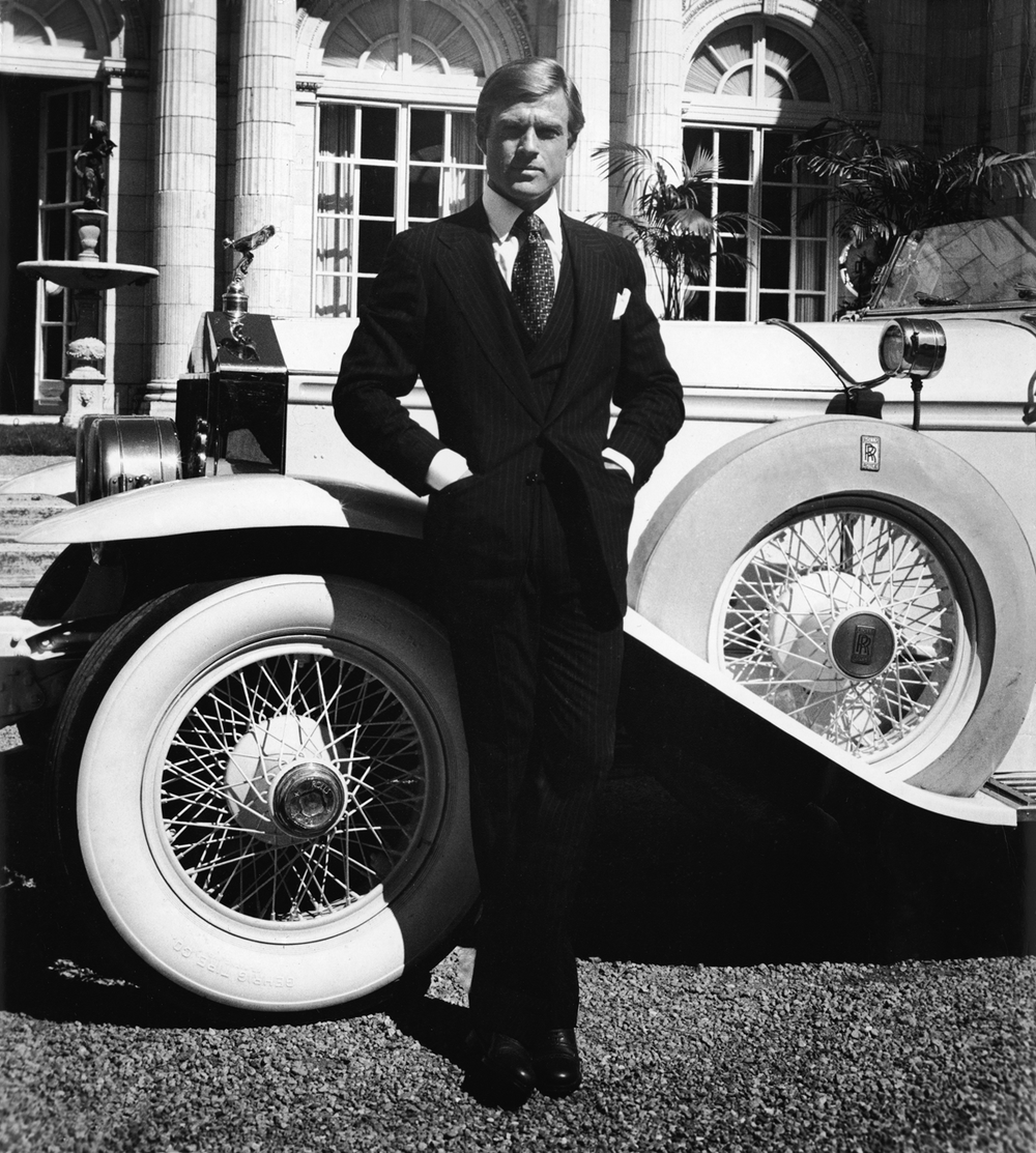 Ralph Lauren suiting in The Great Gatsby; image via Variety.