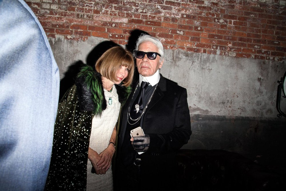 With Anna Winter; image via The New York Times