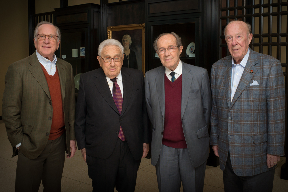 Nuclear Security Project (l-r) Sam Nunn, Henry Kissinger, William Perry, George Shultz