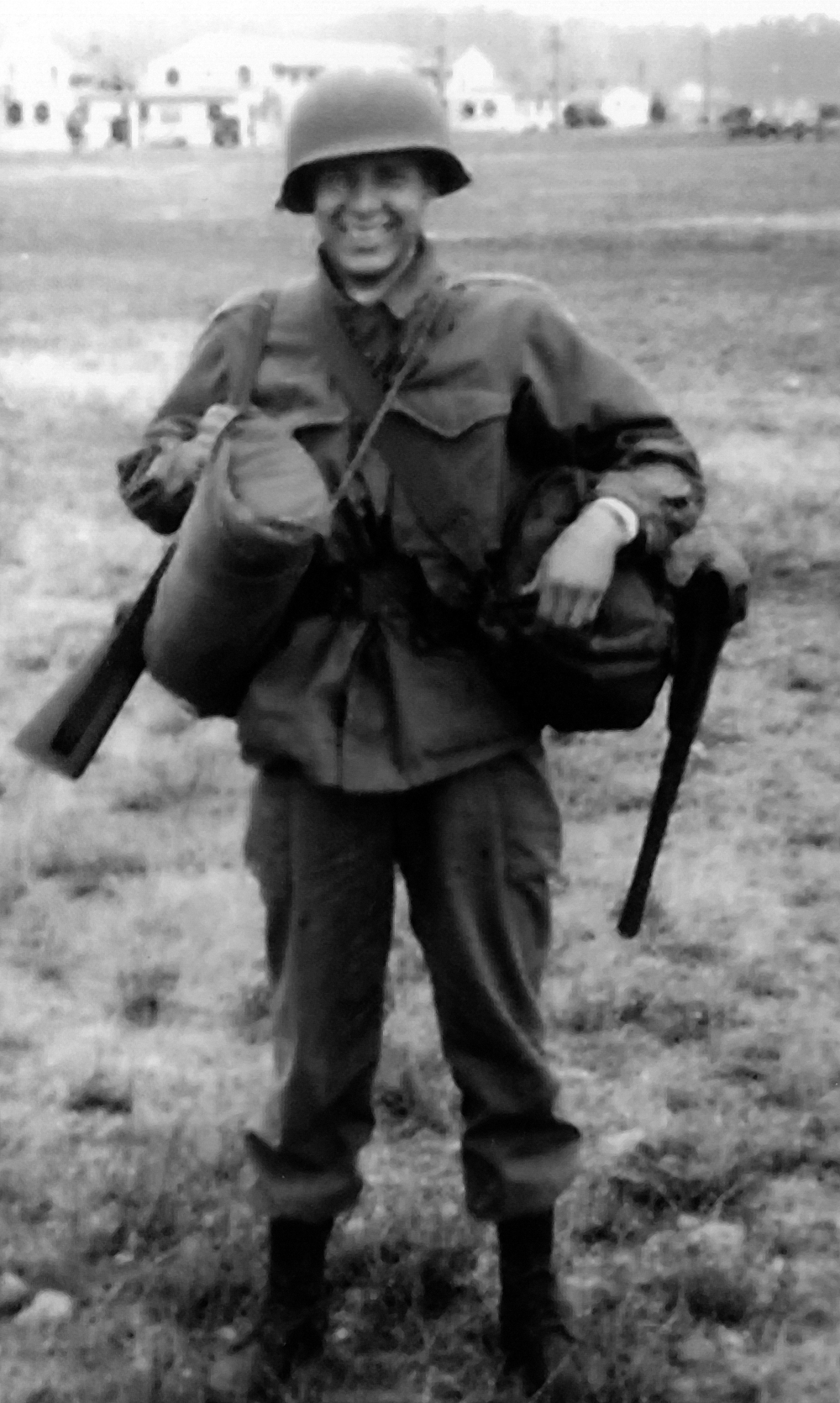 Perry during army basic training