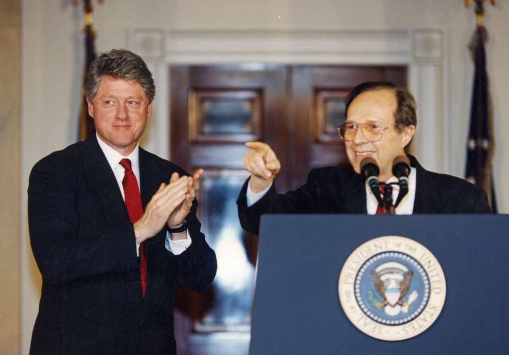 President Clinton nominates Dr. Perry as Secretary of Defense, January 1994.