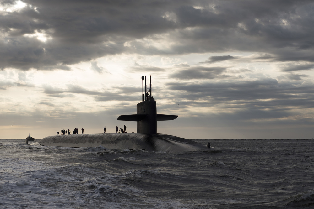 Ohio-class ballistic missile submarine USS Rhode Island - Photo courtesy U.S. Navy