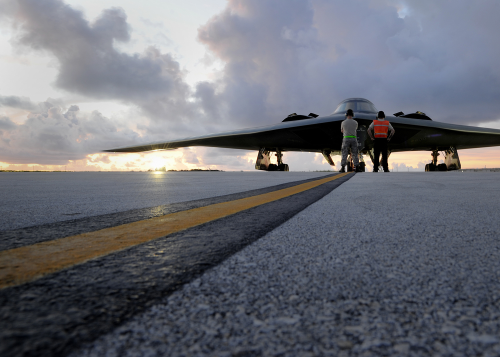 B-2 Spirit bomber at Andersen Air Force Base  - Photo courtesy U.S. Air Force