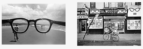 Eyeglasses, California, 1978 | Sol Moscot Optician, New York, 1970 Copyright © Mark Chester