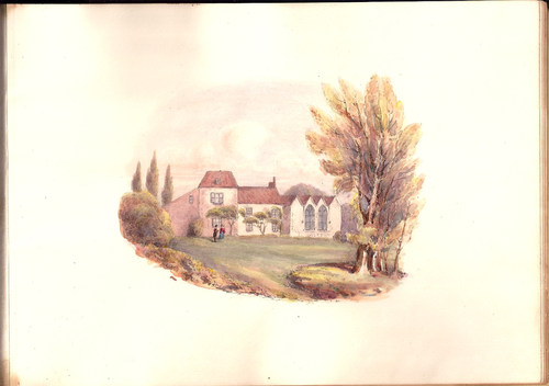 """""""Alfred Tennyson, Birthplace at Somersby"""" plate from  Views of the Haunts and Homes of the British Poets, Oct. 19 1850.  (Un-Gyve Press). ( PRNewsFoto/Un-Gyve Press )"""