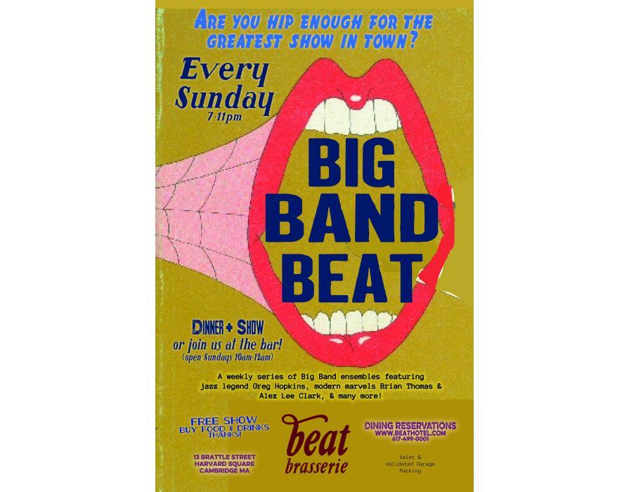 Big Band Beat! with Greg Hopkins' Big Band at Beat Hotel