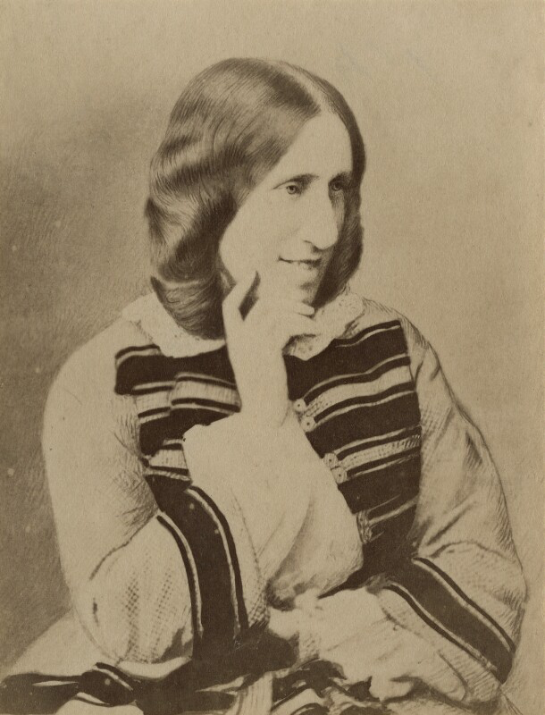 George Eliot (Mary Ann Cross (née Evans)) Copyright © National Portrait Gallery, London  by London Stereoscopic & Photographic Company, after Mayall albumen print, circa 1881 (1858) 4in. x 3 1/4in. (101 mm x 77 mm)  Photographs Collection   October 8:  The strength to force the moment to its crisis: Thomas Hardy and George Eliot