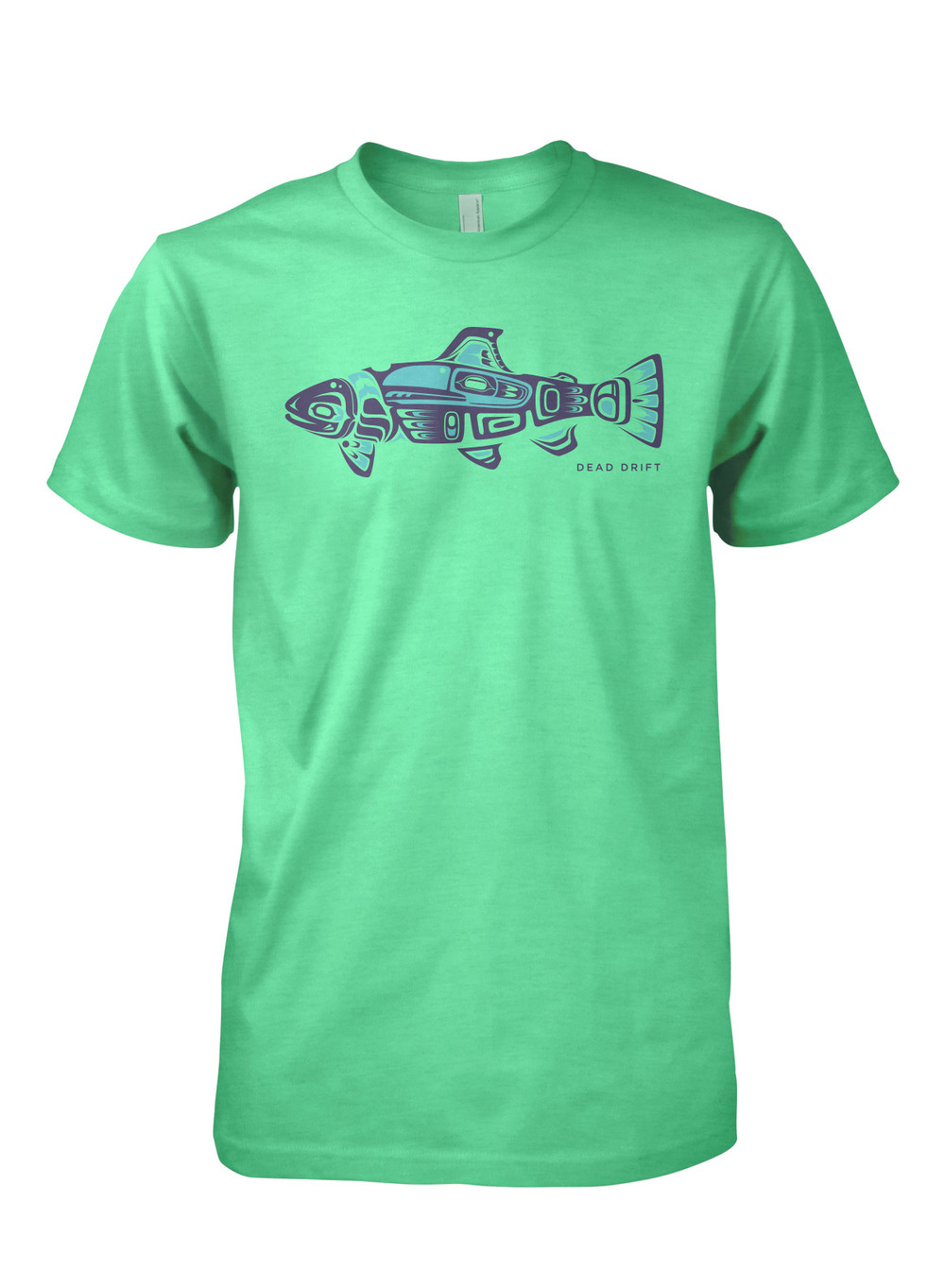 Dead drift fly pnw trout dead drift for Fishing logo t shirts