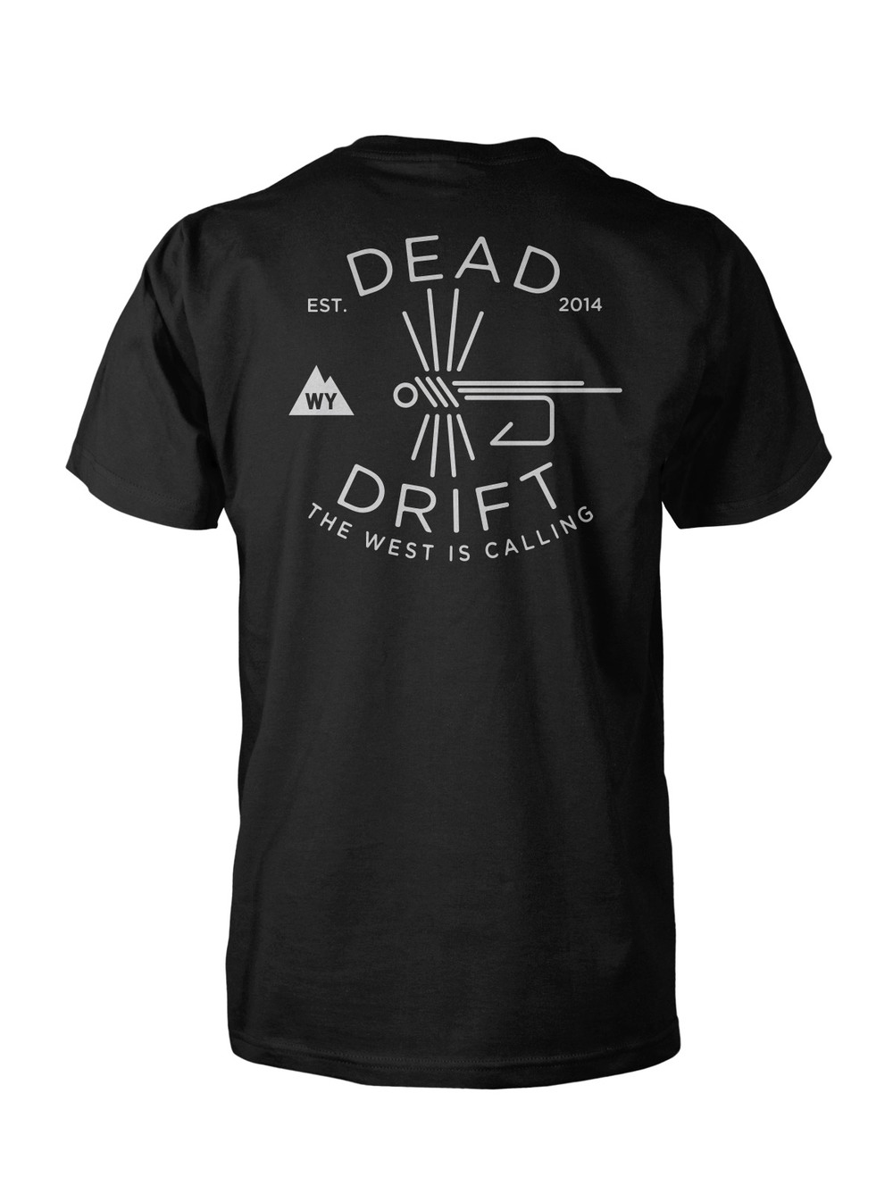 Dead drift fly fish hook tee dead drift for Fly fishing shirt