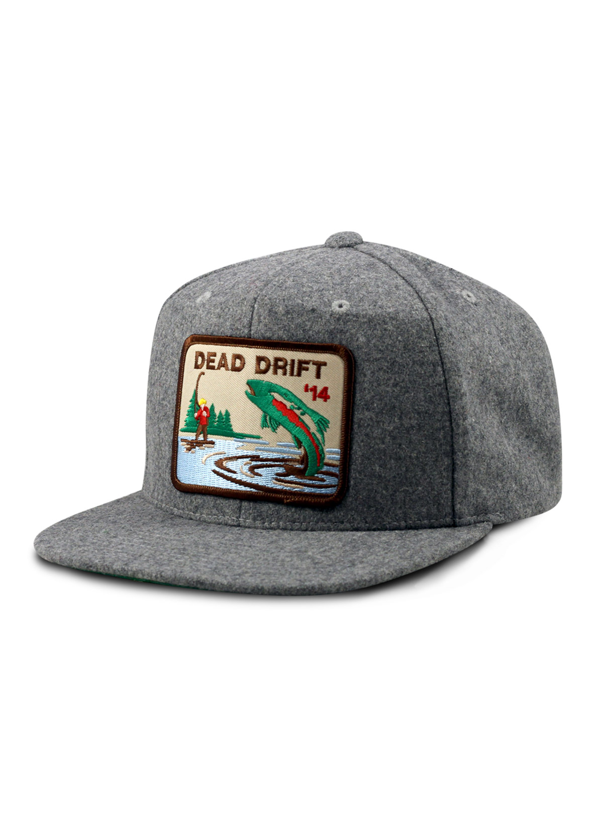 c534952eb91fc ... authentic dead drift fly fishing hats bow grey wool fc955 3dbcc
