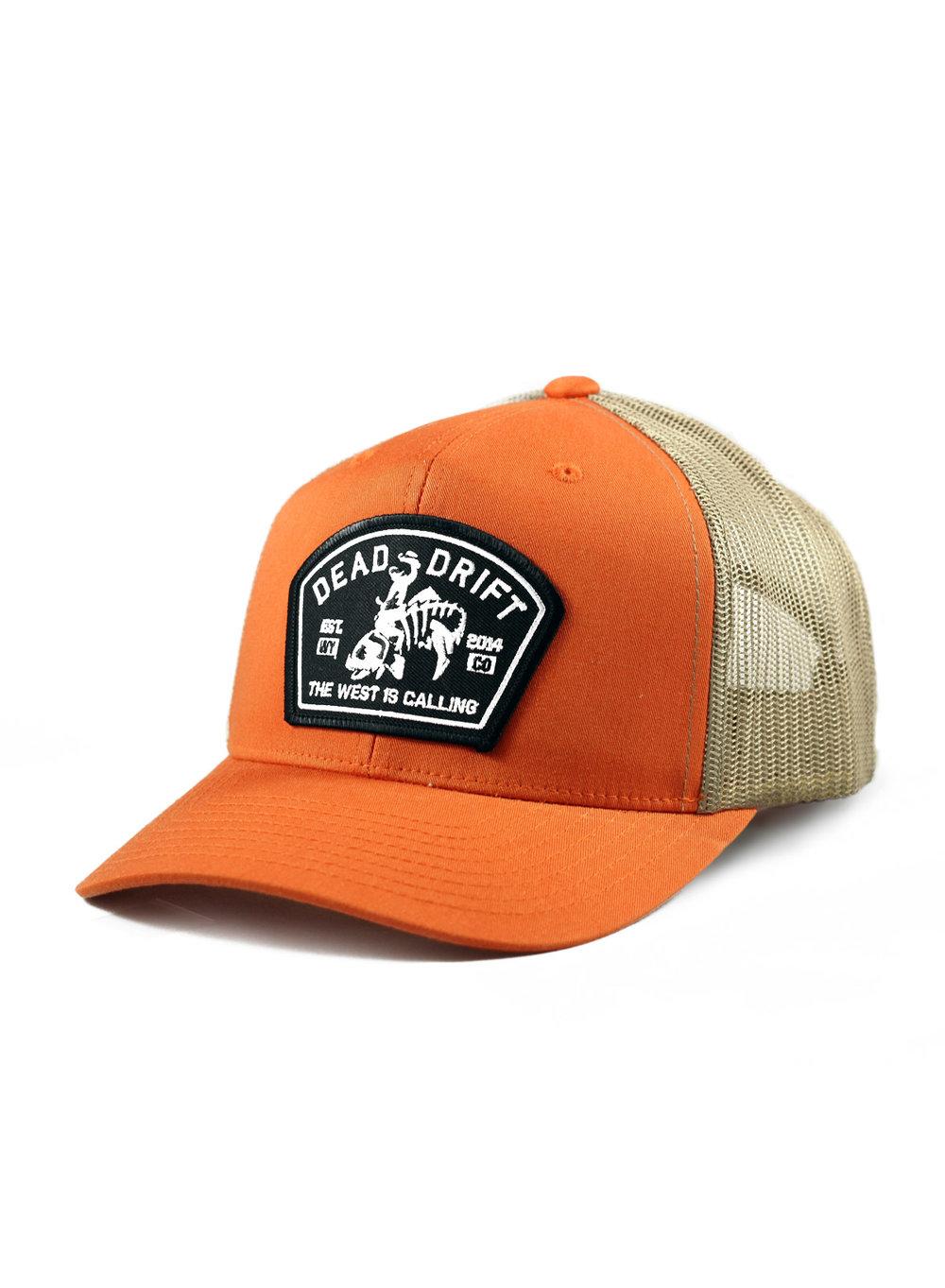 4d25e9d5ebfe5 Dead Drift Fly Bucking Trout Trucker Orange — Dead Drift
