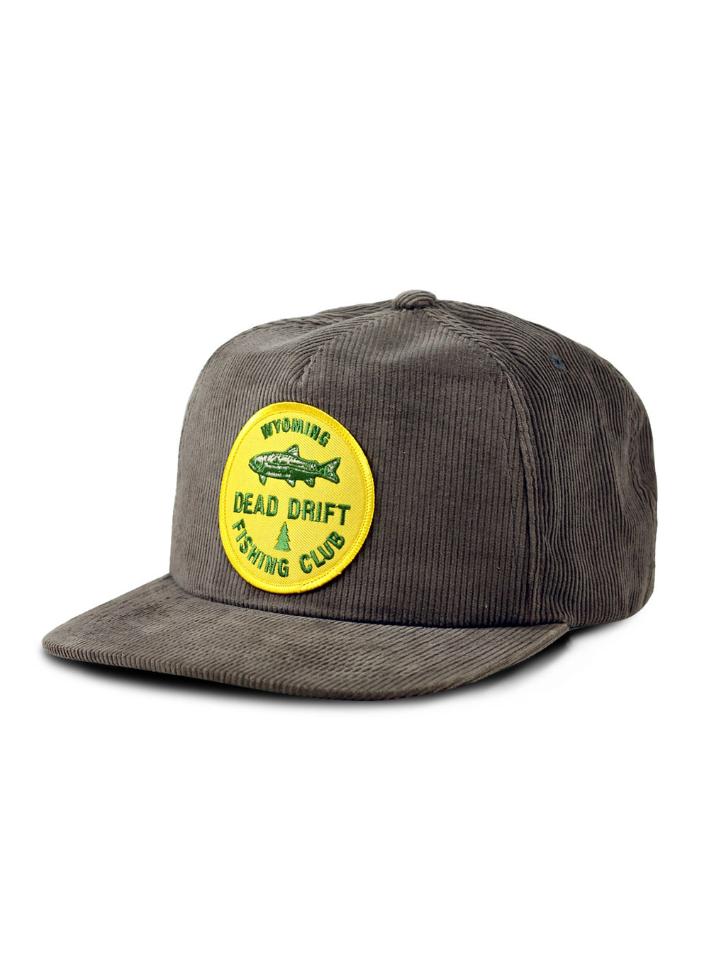 Dead drift fly fishing club corduroy dead drift for Long bill fishing hat