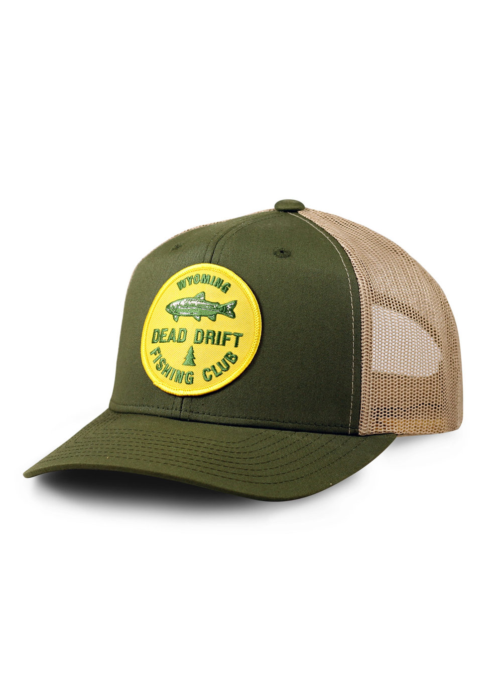 Dead drift fly fishing club trucker dead drift for Fishing trucker hats
