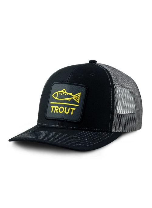 64c52641e0180 Dead Drift Fly Modern Trout Trucker Black — Dead Drift