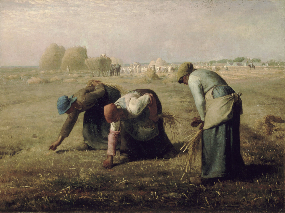 """Sort of like this, yes. This is  Jean-Francois Millet's   """"The Gleaners""""  which is at the  Musee D'Orsay .( everything you ever wanted to know about this painting here .)"""