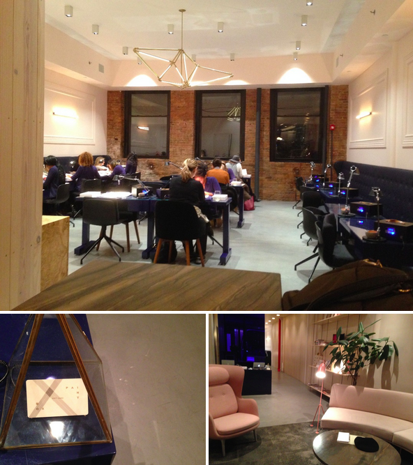 the main room for manicures and the entry room where you first enter and look through manicure design styles.