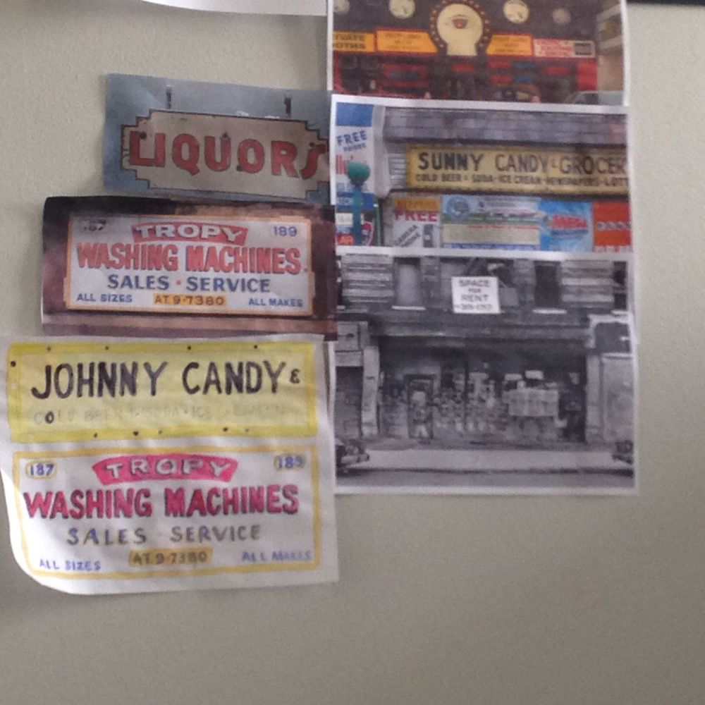 The Art Dept office in the Production Offices were plastered with fun reference photos of NYC Soho in the 1980s.