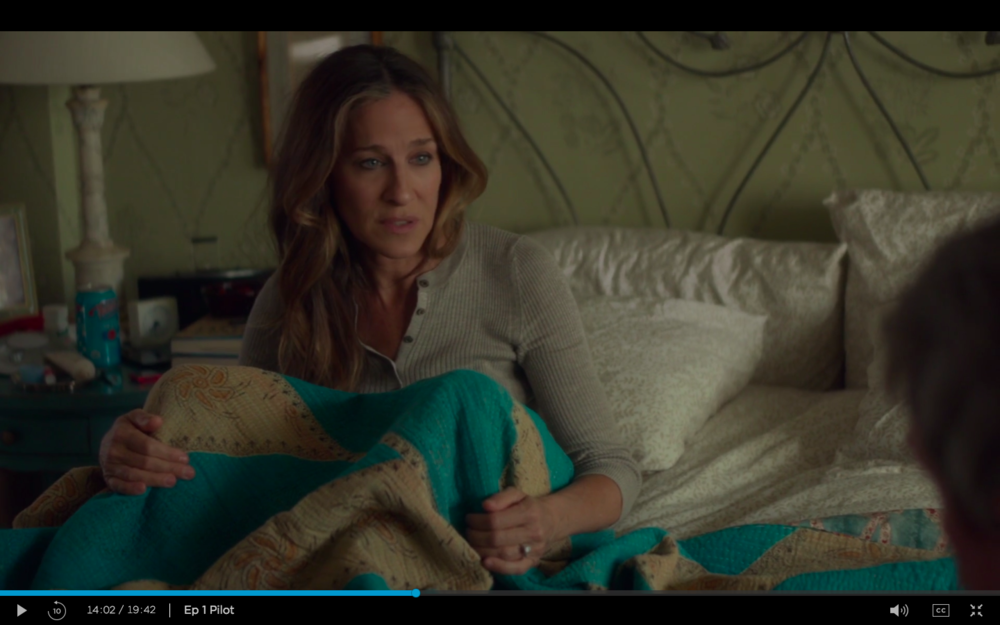 "Frances' bedroom in ""Divorce."""