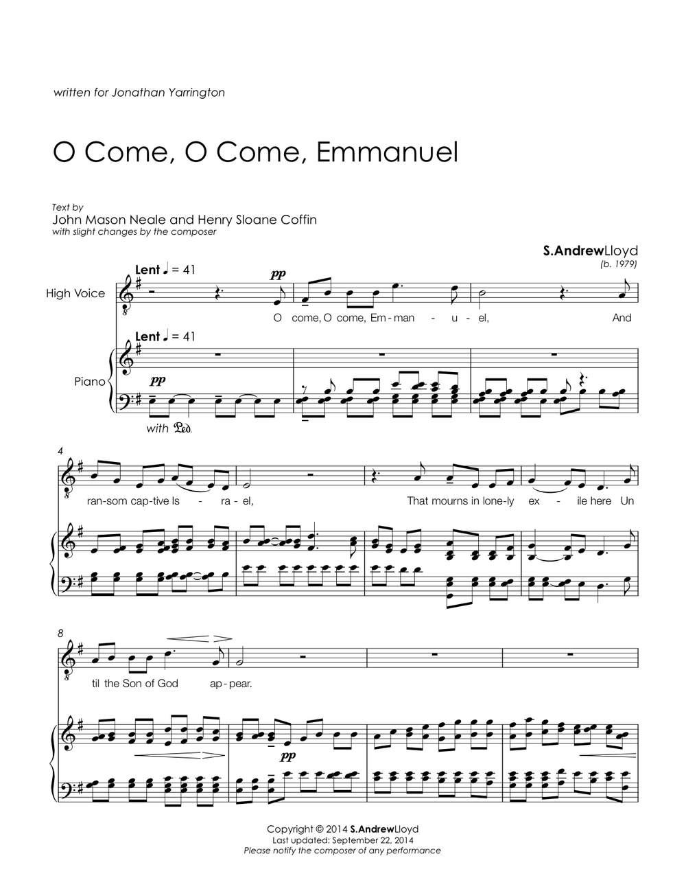 O Come, O Come, Emmanuel Sample 1.jpg