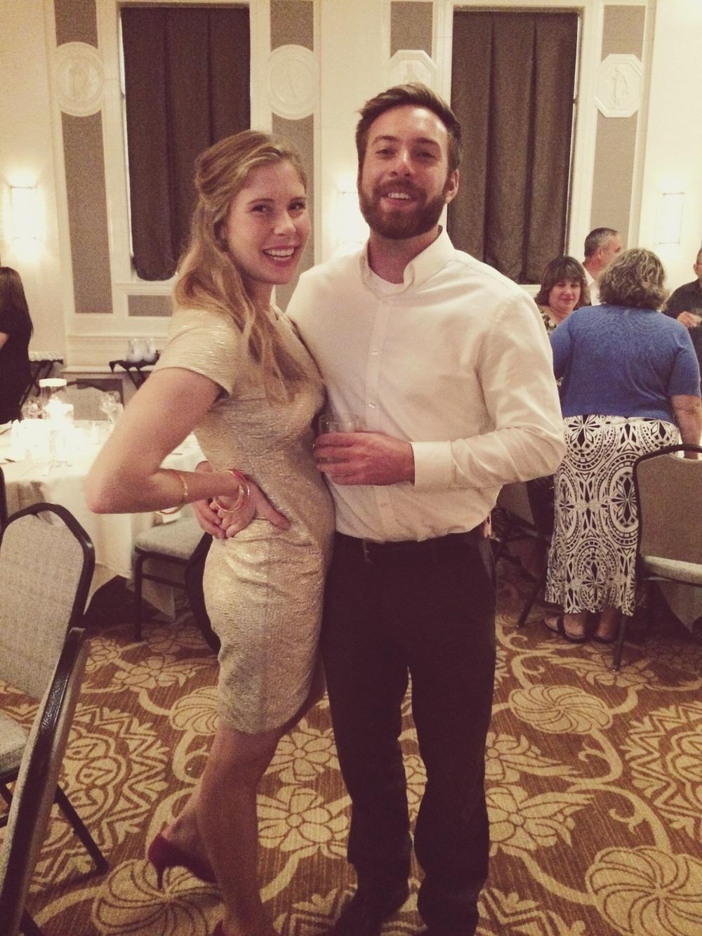 Schmoozin' at Annica and Jordan's wedding