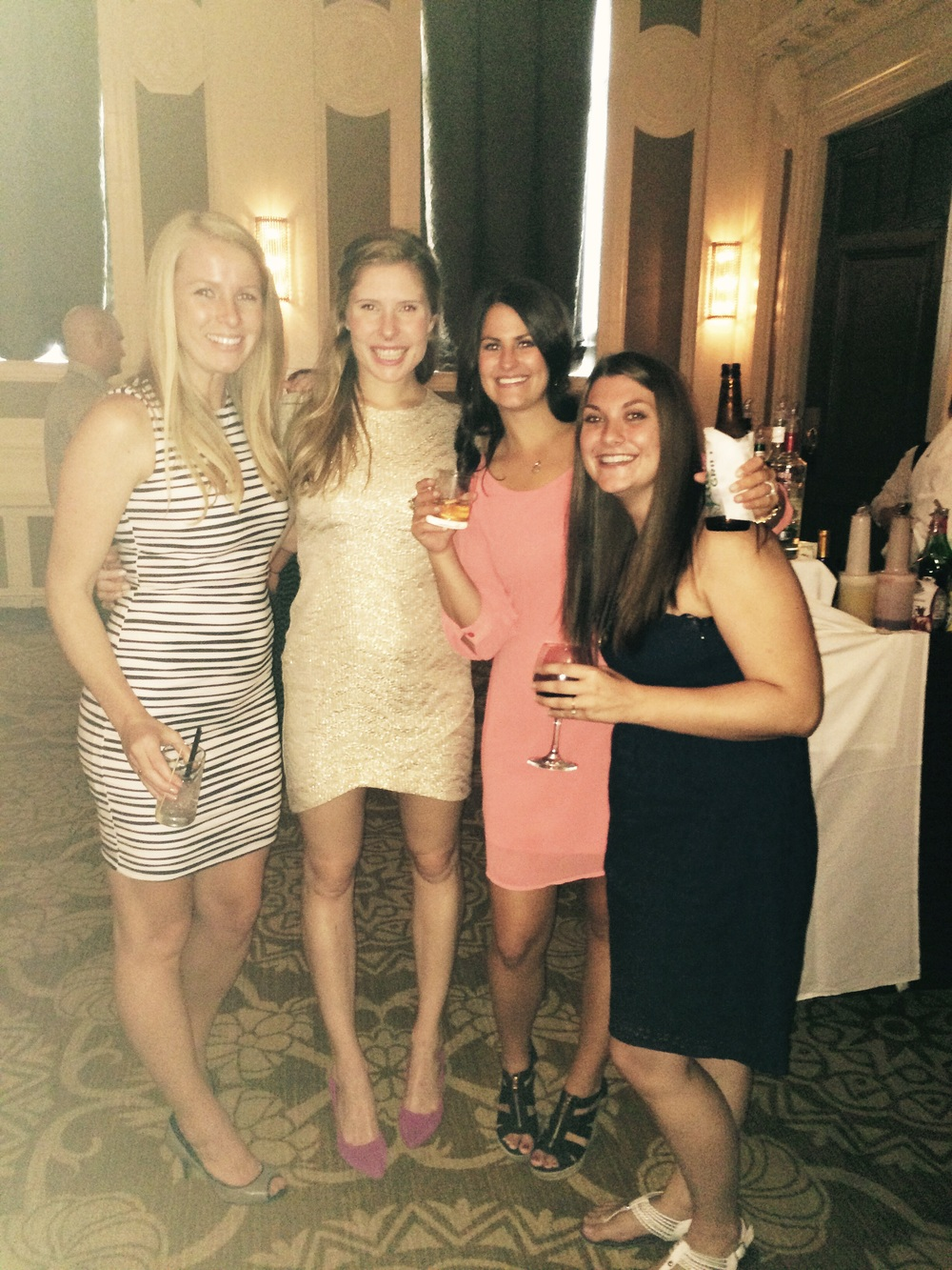 Me and my high school girls at Annica and Jordan's wedding!