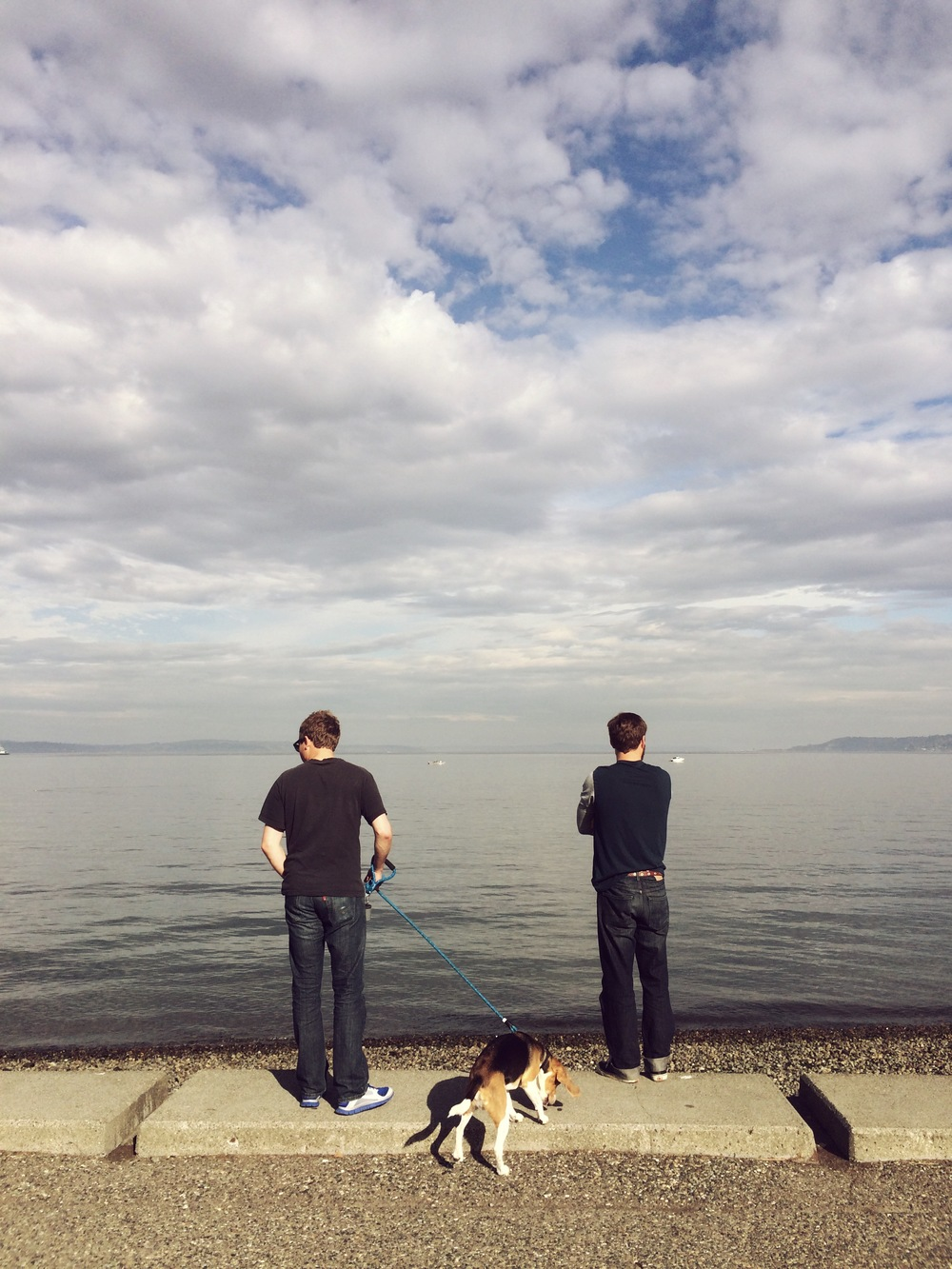 West Lake, Seattle with Brother Evan, Tucker Dog, and Manfriend Marshal