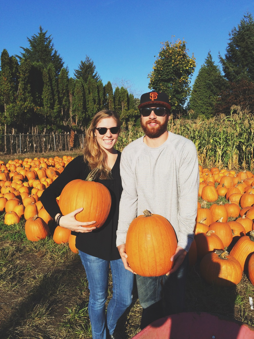 Obligatory pumpkin patch photo