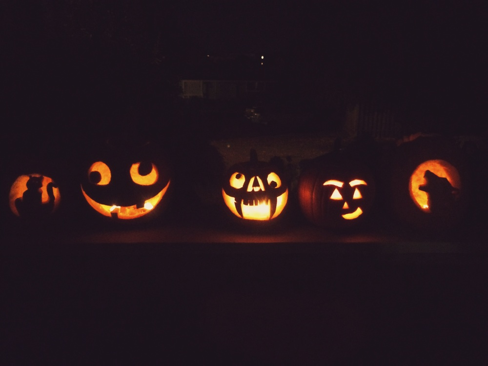 Some of the pumpkins from Jaz's carving party!