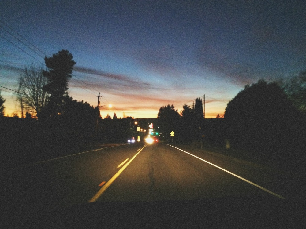 A beautiful, basically-Spring night drive
