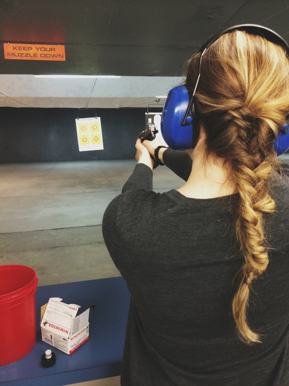 They all did a fine job of teaching me how to shoot a gun, and while I was nervous and scared, I did it!