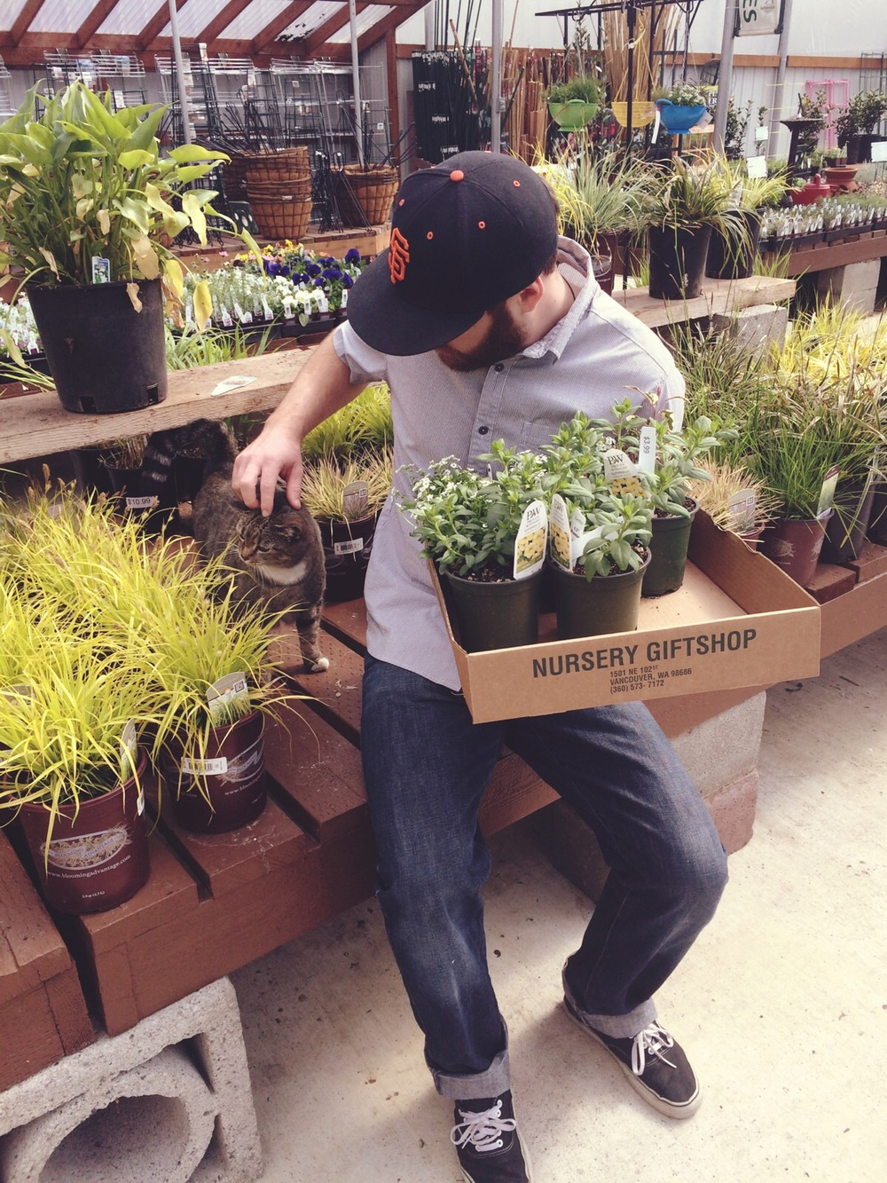 Picking out plants for the house at Yard and Garden