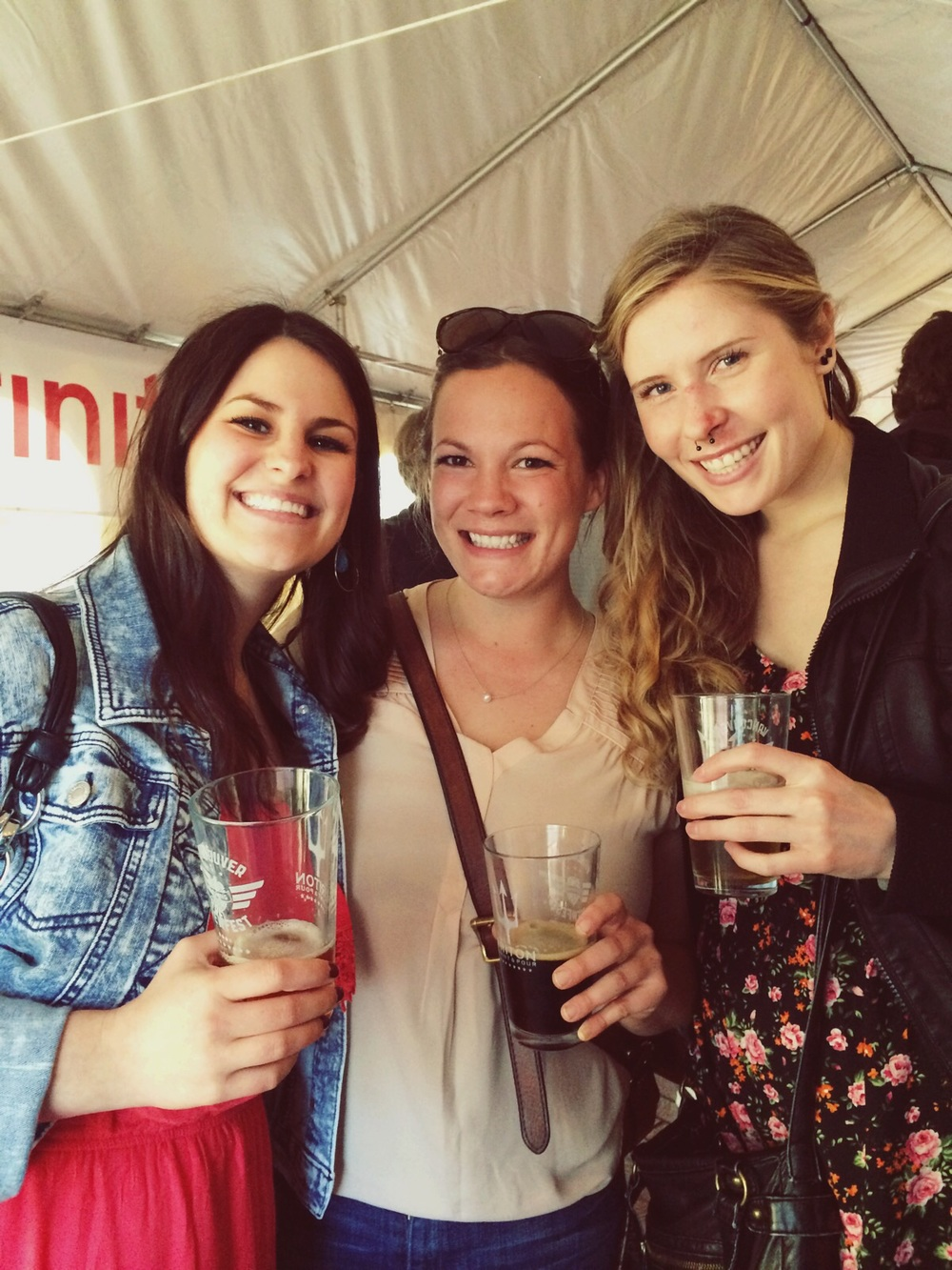 Bri, Katy, and me at Vancouver's Brewfest