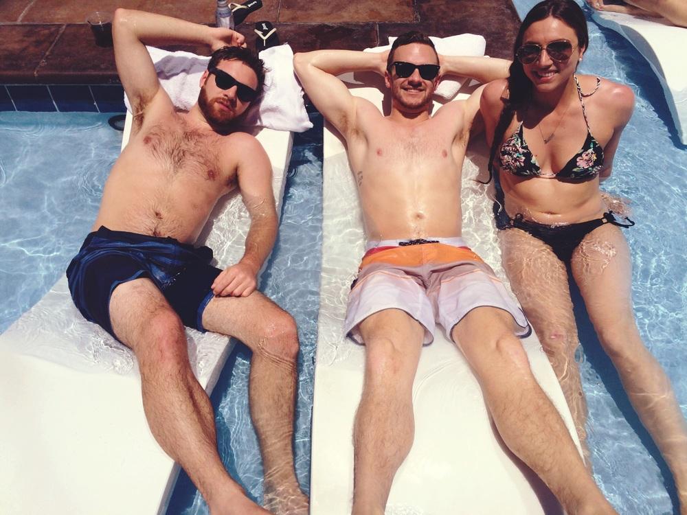 Marsh, Jordan, and Annica soakin' up that sun
