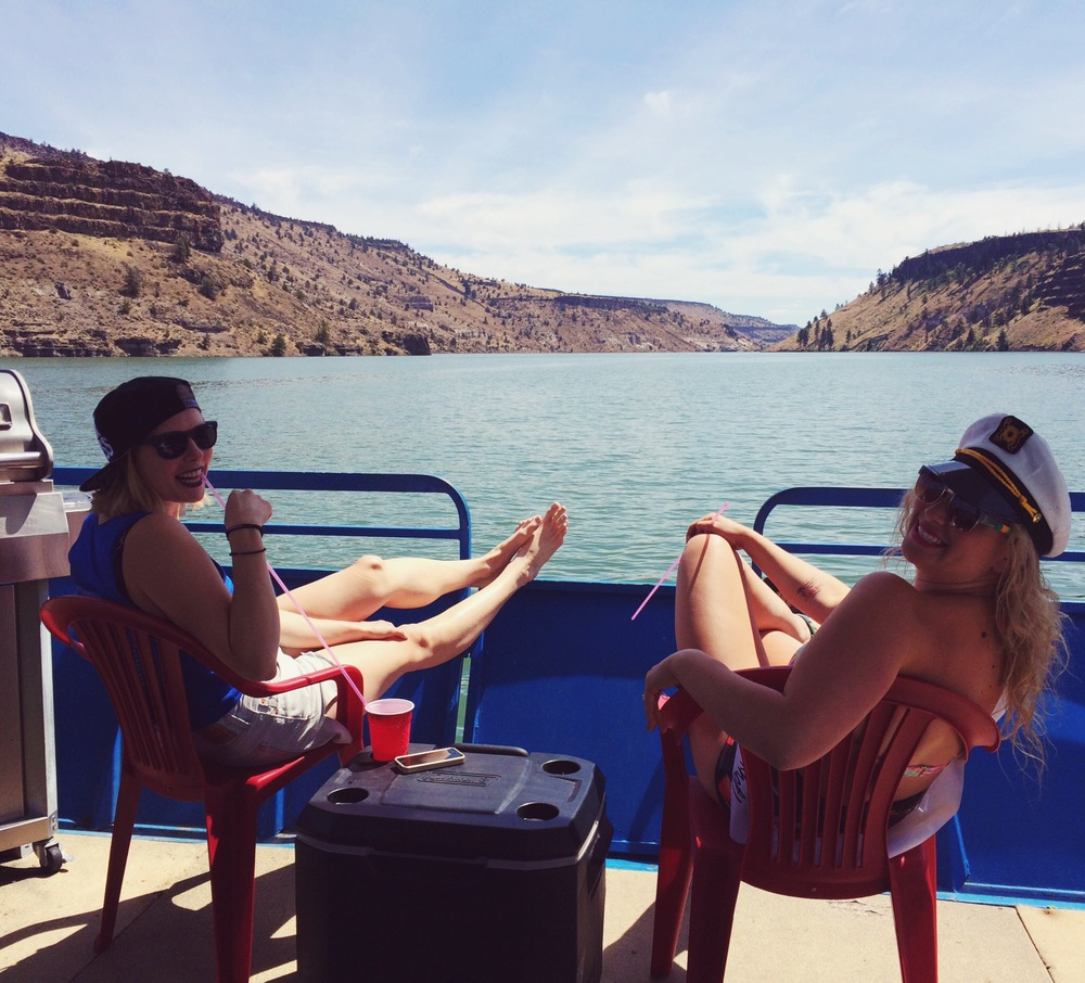 Emily and I startin' day two off with that beautifulboat ride!