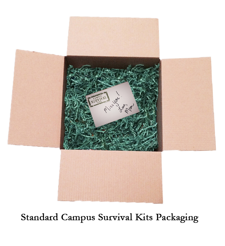 Original Campus Survival Kits Packaging - standard on all kits!
