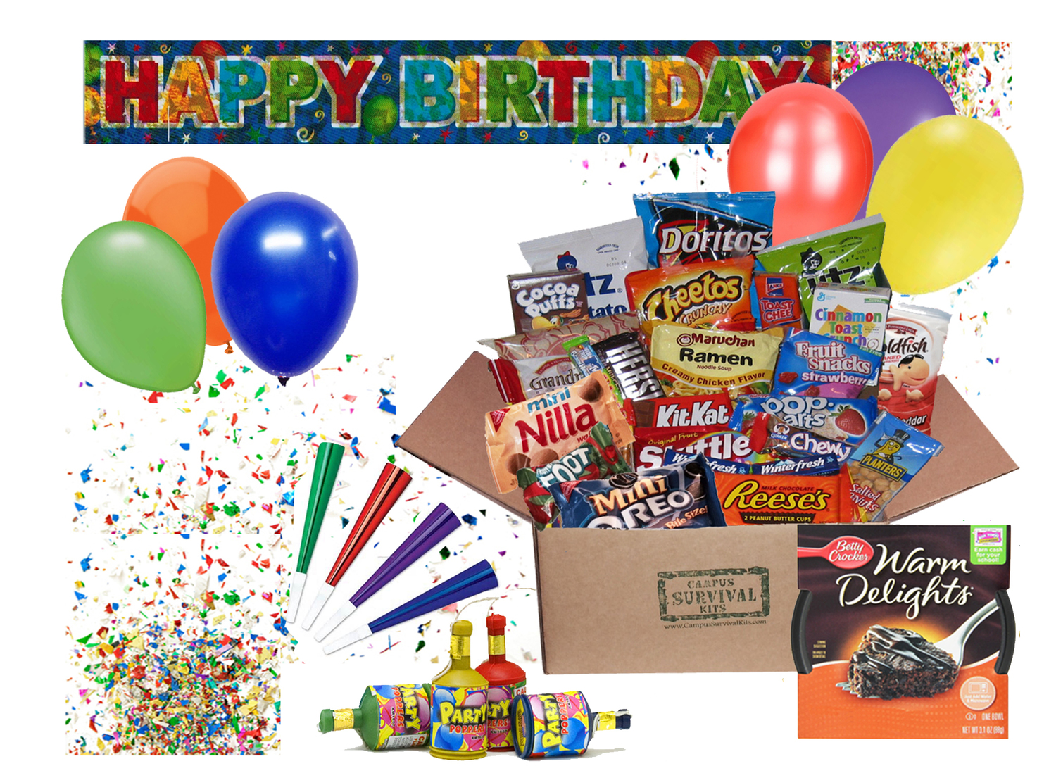 Happy Birthday Campus Survival Kit Kits
