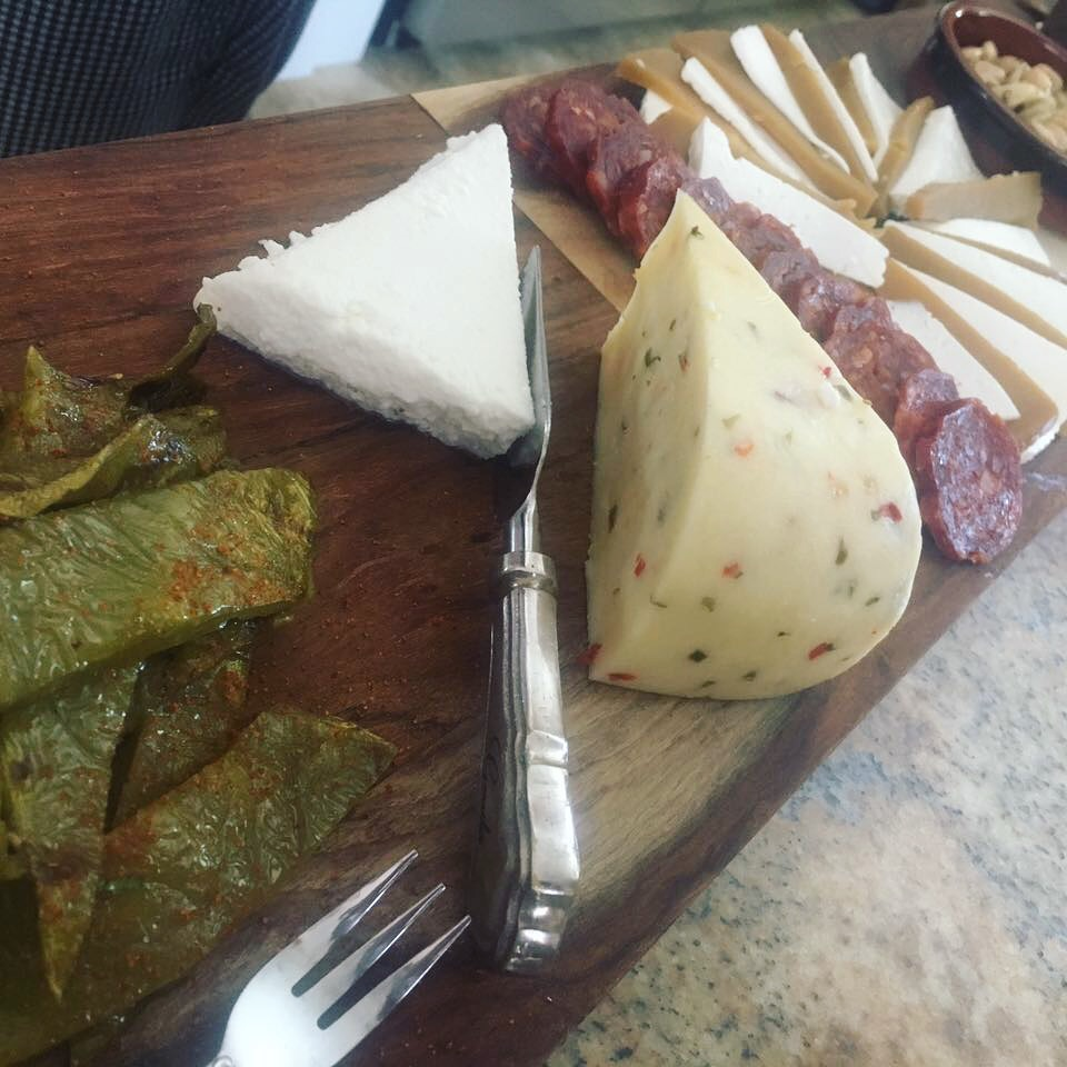 - Mexican Cheese and Meat Board/ Grilled Chile-Lime Baby Cactus Paddle (Nopalitos) / Queso Fresco/ Ate de Membrillo (Guava Paste) & Queso Panela/ Housemade Cecina (Mexican cured beef)