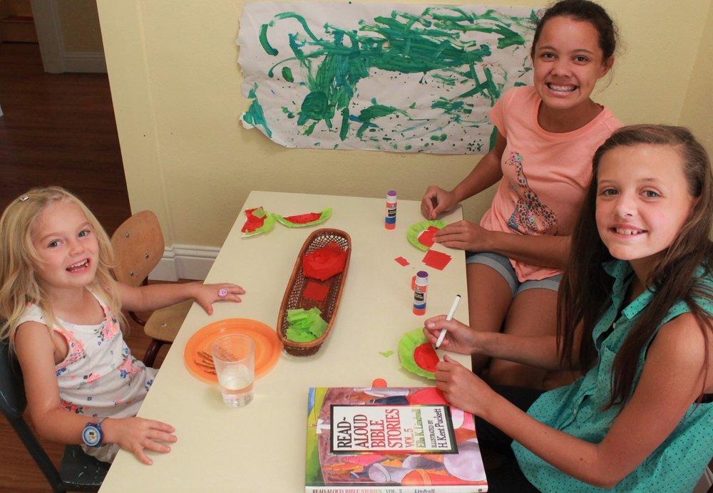 Naomi and Maya volunteering at Child Life this Summer.