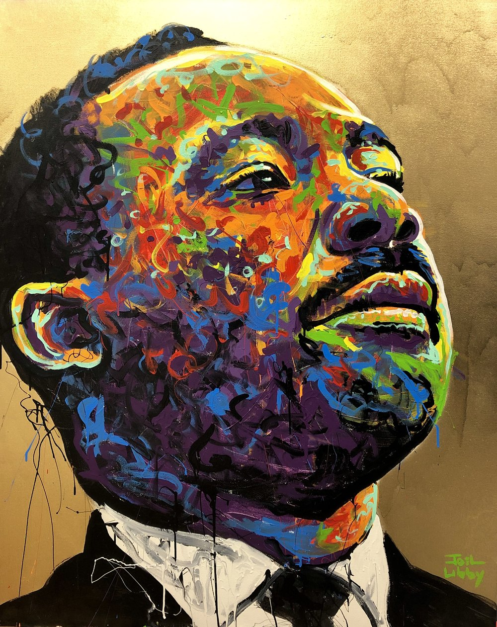 Dr. Martin Luther King, Jr. - Artwork by WWU Art Professor Joel Libby