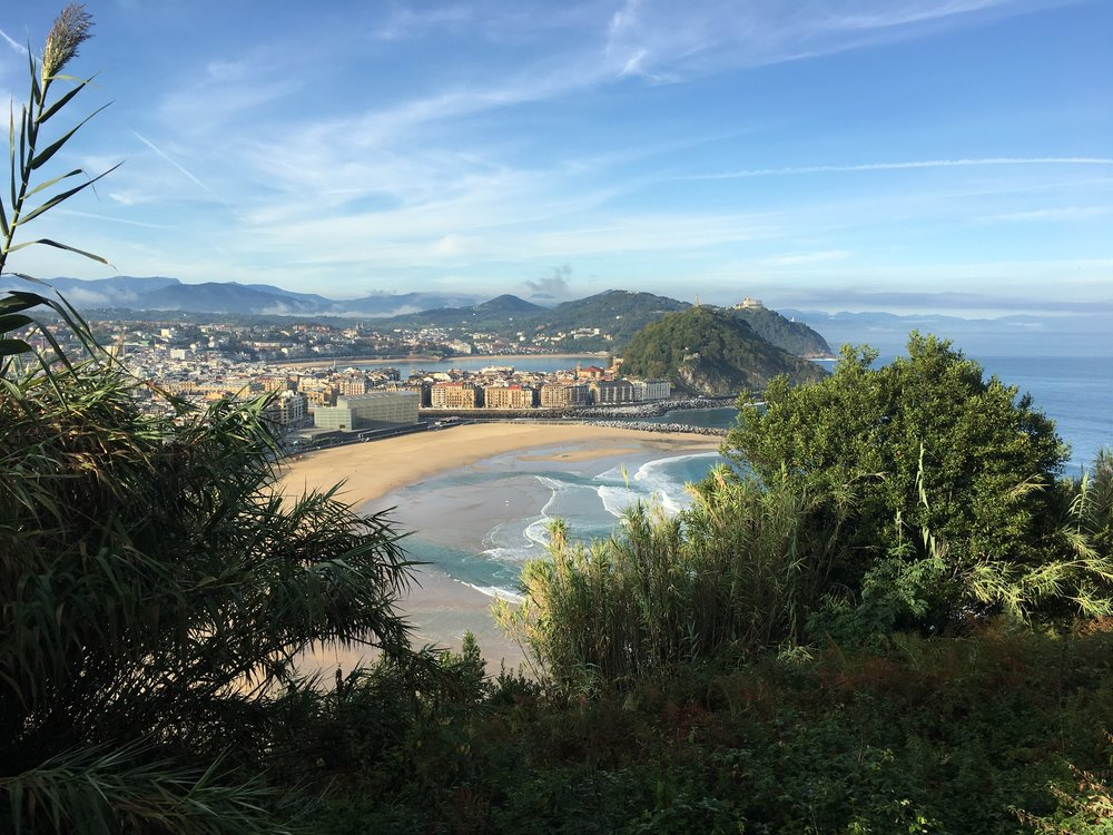 This is the view after a 10 minute walk from he place where I was staying in San Sebastian, Spain.