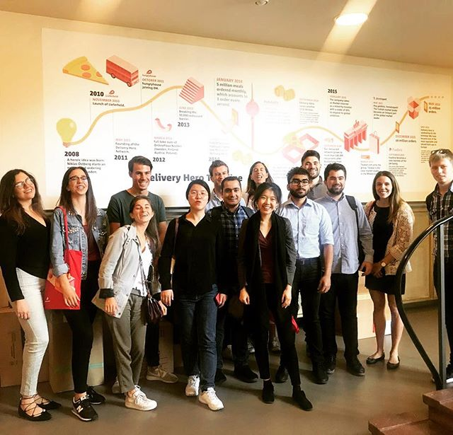 Master in management students visiting the offices of @deliveryhero in Berlin #berlinimmersion #studytours #legacyventures #mbalife #businessschool #entrepreneurship #innovation #venturecapital #unicornbusiness #germanunicorn #masterinmanagement #berlintrip