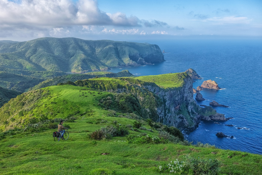 Nishinoshima in Oki Islands features Japan's highest cliff.
